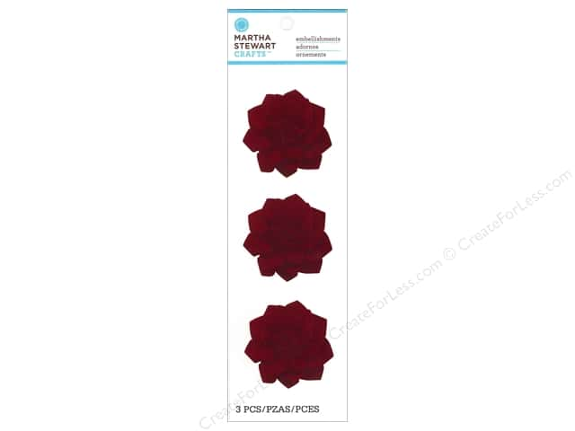 Martha Stewart Sticker Flower Felt Camellia Red