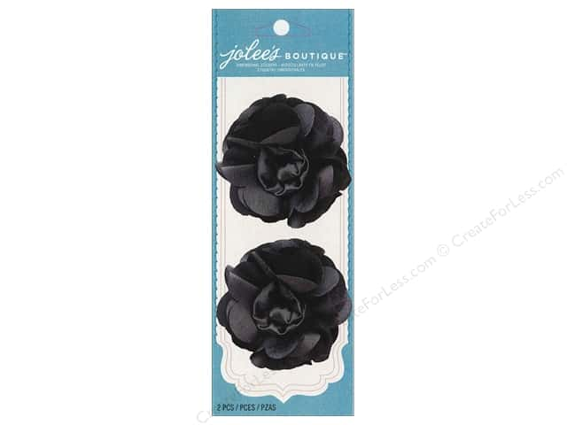 Jolee's Boutique Embellishments Taffeta Flower Grey