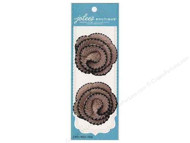 Jolee's Boutique Embellishments Spiral Flower Black & Tan