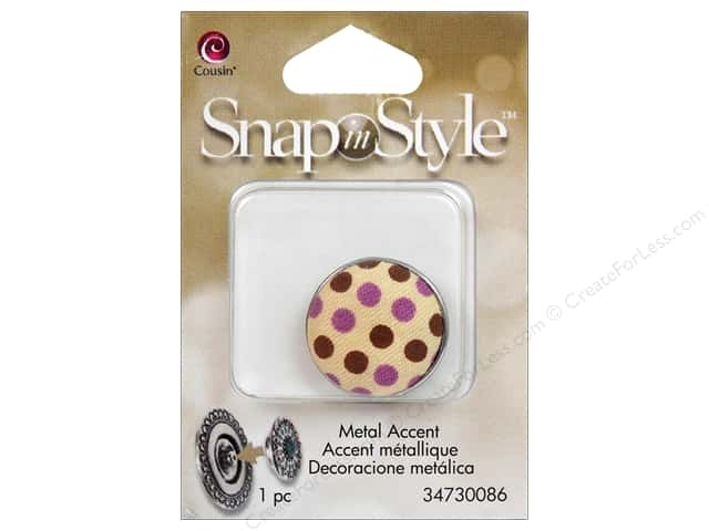 Cousin Snap In Style Accent Metal Polka Dot