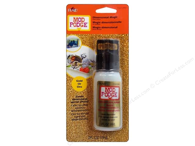 Plaid Mod Podge Dimensional Magic 2 oz. Glitter Gold