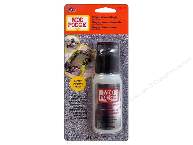 Plaid Mod Podge Dimensional Magic Glitter Silver 2oz