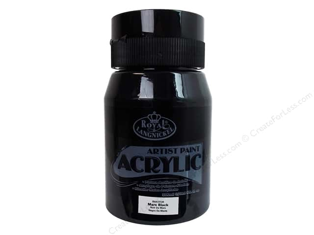Royal Paint Artist Acrylic 16.9oz Mars Black
