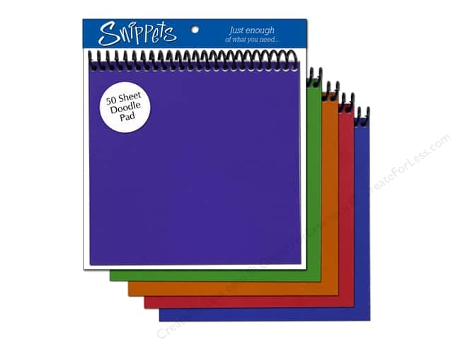 Doodle Pad by Paper Accents 6 x 6 in. Assorted Colors