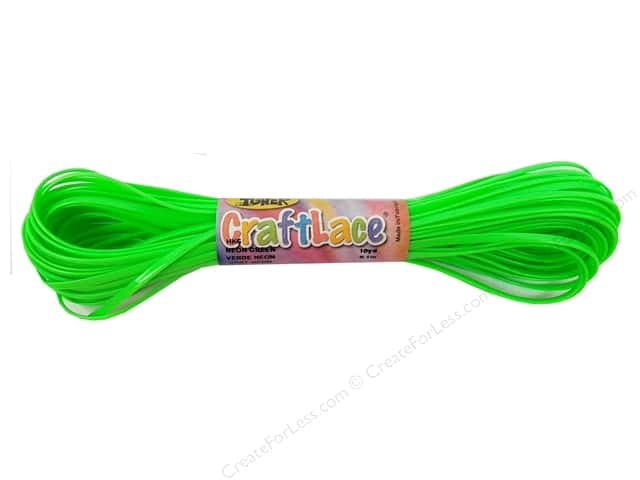 Toner Craft Lace 10 yd. Neon Green