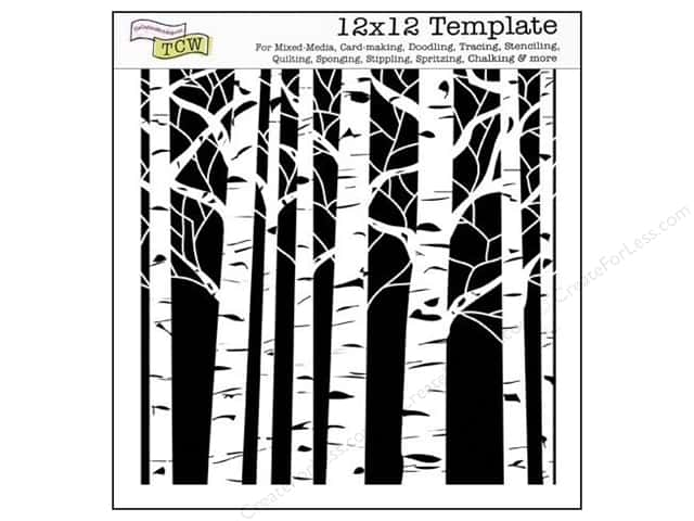 The Crafter's Workshop Template 12 x 12 in. Aspen Trees