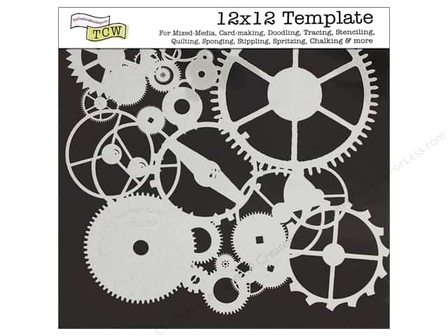 The Crafter's Workshop Template 12 x 12 in. Gears
