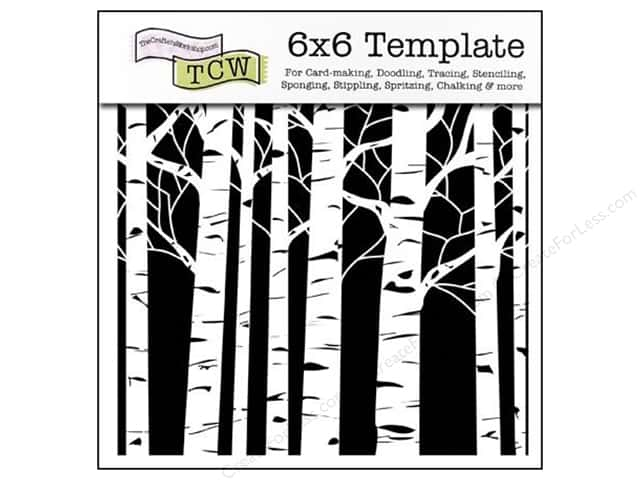 The Crafter's Workshop Template 6 x 6 in. Aspen Trees