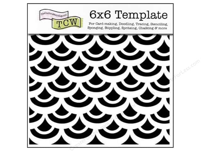 The Crafter's Workshop Template 6 x 6 in. Fish Scales