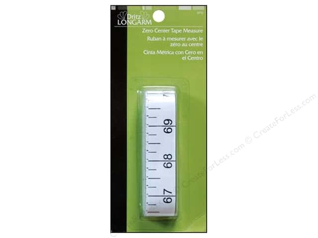 Zero Center Tape Measure by Dritz Longarm 144 in.