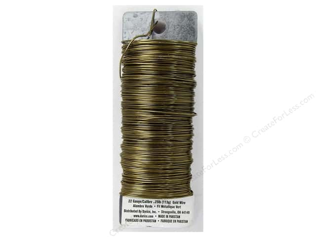 Darice Paddle Wire 22 Gauge Gold 110 ft.