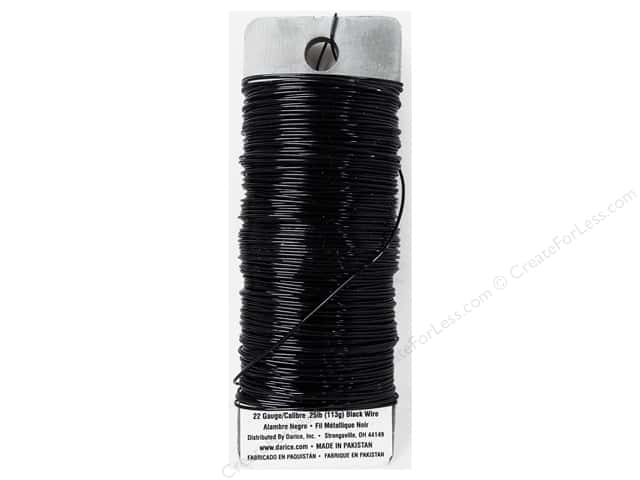 Darice Paddle Wire 22 Gauge Black 110 ft.