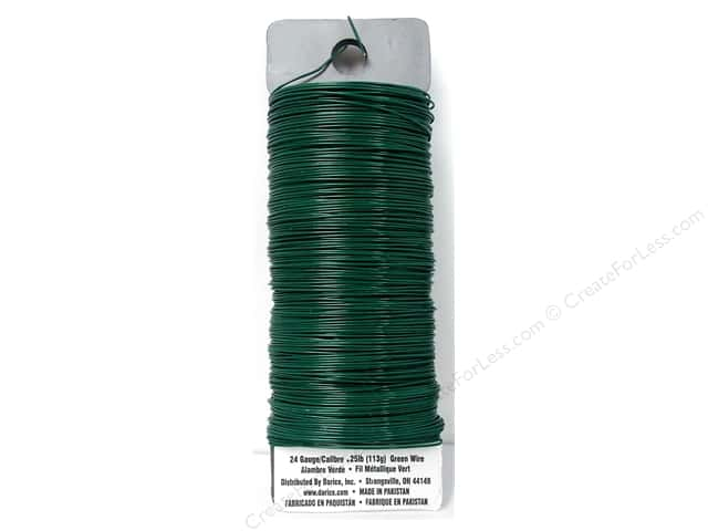 Darice Paddle Wire 24 Gauge Green 110 ft.
