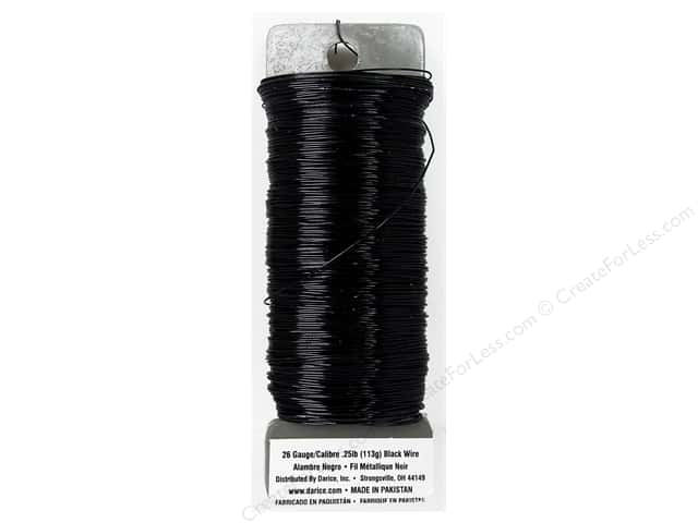 Darice Paddle Wire 26 Gauge Black 110 ft.
