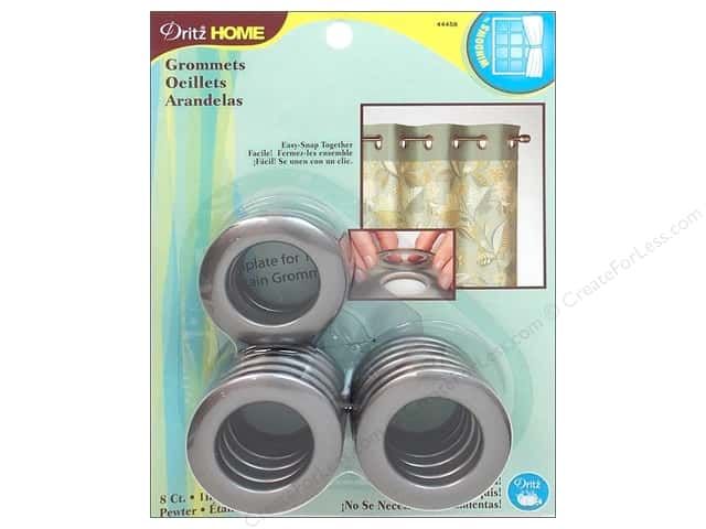 Dritz Home Curtain Grommets 1 in. Round Pewter 8 pc