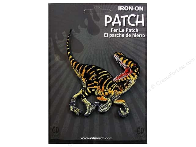 C&D Visionary Applique Dinosaurs Striped Velociraptor