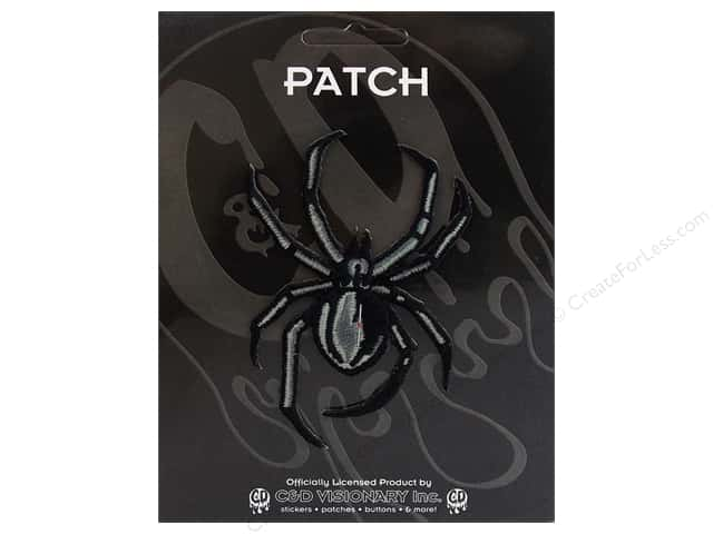 C&D Visionary Applique Spiders Black Widow