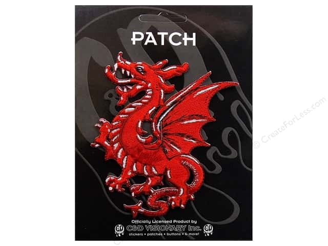 C&D Visionary Applique Dragons Red Dragon
