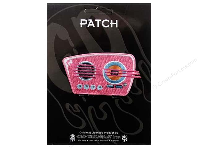C&D Visionary Applique 50's Retro Pink Radio