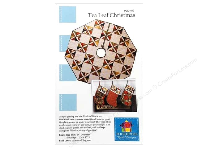 Poorhouse Quilt Designs Tea Leaf Christmas Pattern