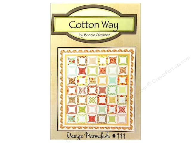 Cotton Way Orange Marmalade Pattern