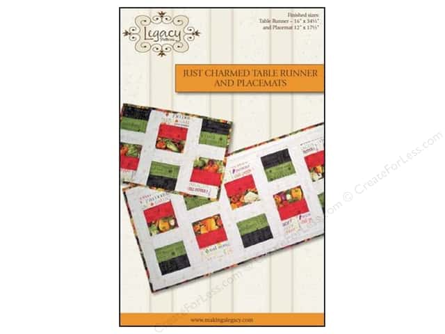 Legacy Just Charmed Table Runner & Placemats Pattern