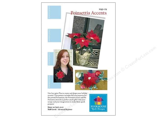 Poorhouse Quilt Designs Poinsettia Accents Pattern