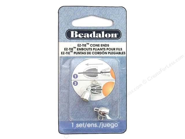 Beadalon EZ-Tie Cone Ends 2 pc. Silver Plated