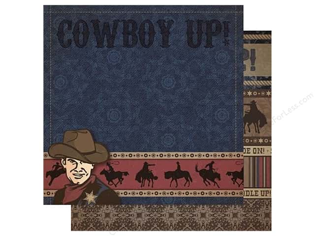 Best Creation 12 x 12 in. Paper Cowboy Collection Cowboy Up (25 sheets)