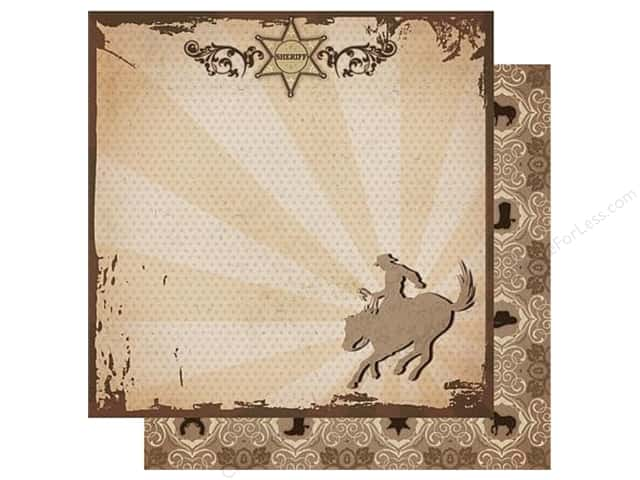 Best Creation 12 x 12 in. Paper Cowboy Sheriff (25 sheets)