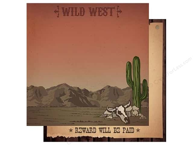 Best Creation 12 x 12 in. Paper Cowboy Collection Wild West (25 sheets)
