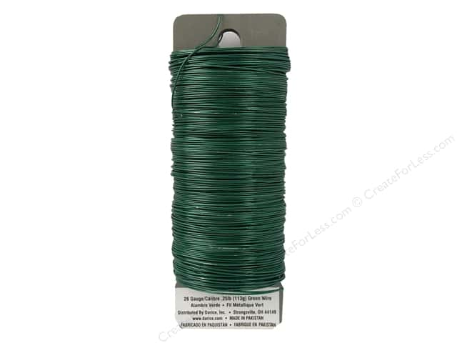 Darice Paddle Wire 26 Gauge Green 110 ft.