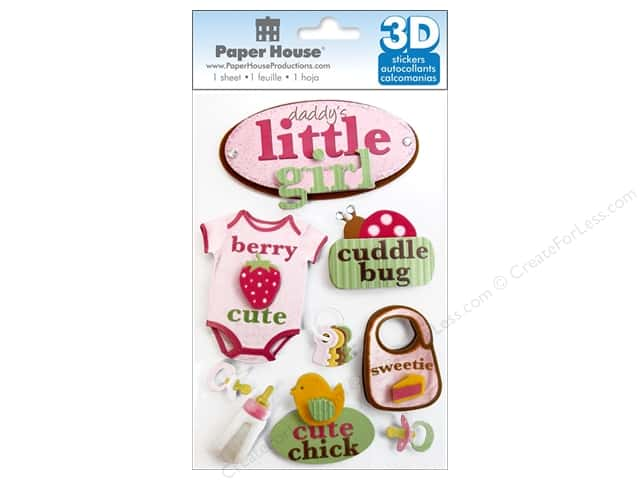 Paper House Sticker 3D Little Girl