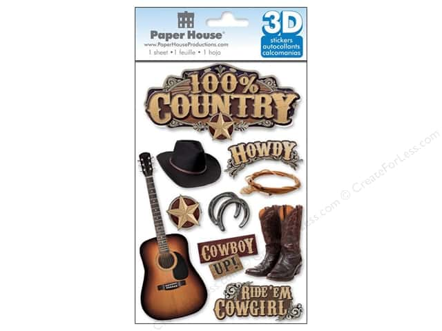 Paper House 3D Stickers - 100% Country