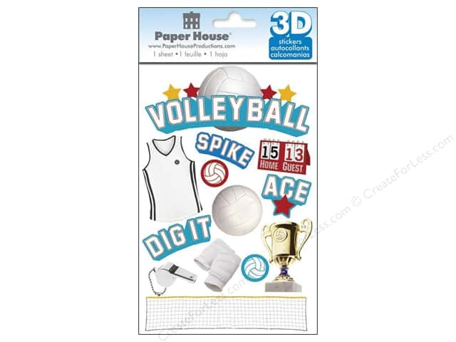 Paper House Sticker 3D Volleyball