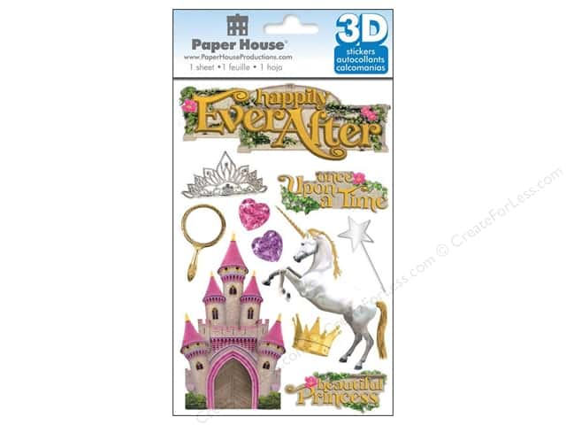 Paper House 3D Stickers - Happily Ever After