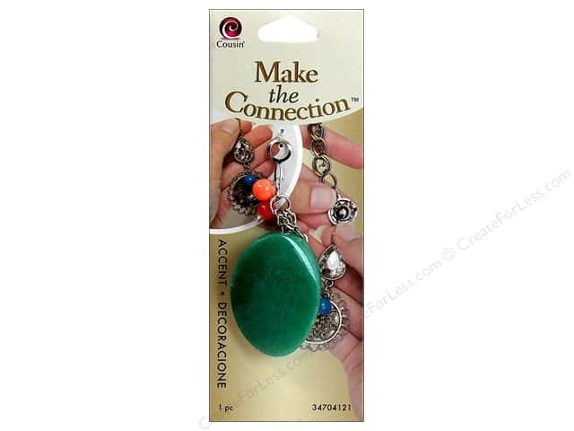 Cousin Make the Connection Accent Green Gemstone/Red Drop