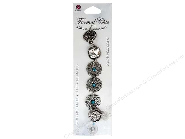 Cousin Make the Connection Short Formal-Chic Connector Metal Round Filigree