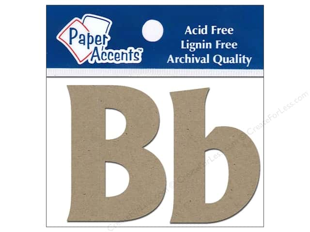 "Paper Accents Chipboard Shape Letters ""Bb"" 2 in. 2 pc. Natural"