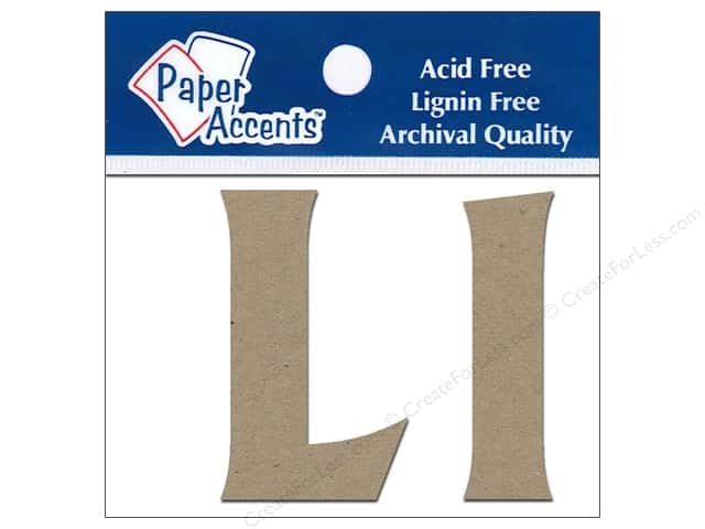"Paper Accents Chipboard Shape Letters ""Ll"" 2 in. 2 pc. Kraft"