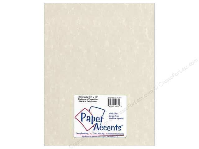 Paper Accents Stationery 8 1/2 x 11 in. Natural Parchment 20 pc.