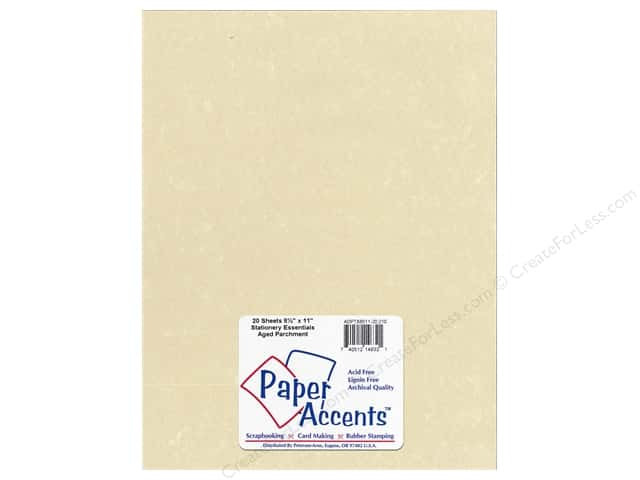 Paper Accents Stationery 8 1/2 x 11 in. Aged Parchment 20 pc.