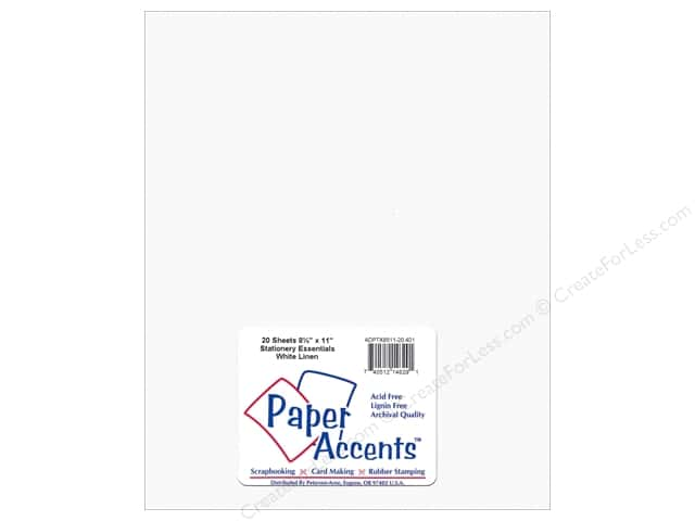 Paper Accents Stationery 8 1/2 x 11 in. Linen White 20 pc.