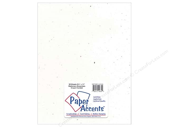 Paper Accents Stationery 8 1/2 x 11 in. Cream Confetti 25 pc.