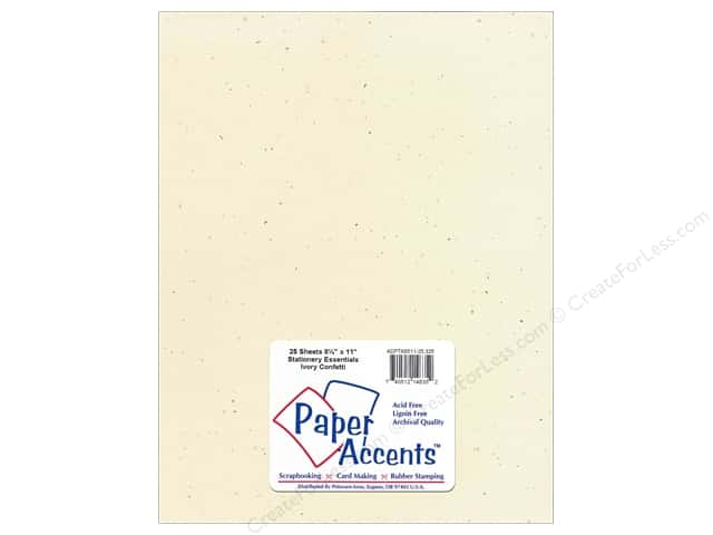 Paper Accents Stationery 8 1/2 x 11 in. Ivory Confetti 25 pc.