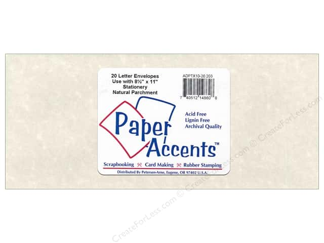 4 x 9 1/4 in. Letter Envelopes by Paper Accents 20 pc. #203 Parchment Natural