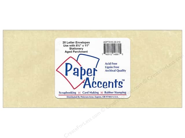 4 x 9 1/4 in. Letter Envelopes by Paper Accents 20 pc. #210 Parchment Aged