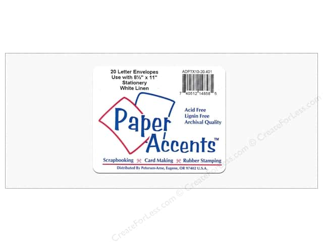 4 x 9 1/4 in. Letter Envelopes by Paper Accents 20 pc. Linen White