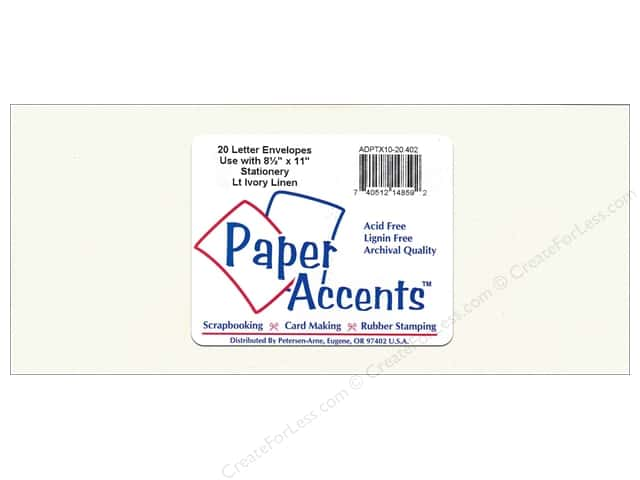 Paper Accents 4 x 9 1/4 in. Letter Envelopes 20 pc. #402 Light Ivory Linen