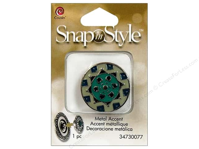 Cousin Snap In Style Accent Metal Geometric 1